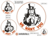 We want you - set 4  samolepky