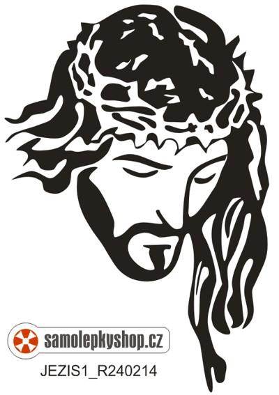 Ježíš , řezaná samolepka z folie Ježíš , řezaná samolepka z folie