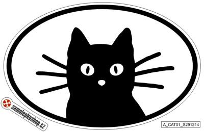Kočka samolepka 17x10 cm, typ 01 Kočka samolepka 17x10cm, typ 01