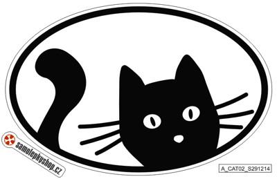 Kočka samolepka 17x10 cm, typ 02 Kočka samolepka 17x10 cm, typ 02