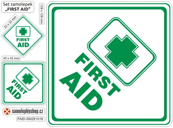 First Aid - set 3  samolepky