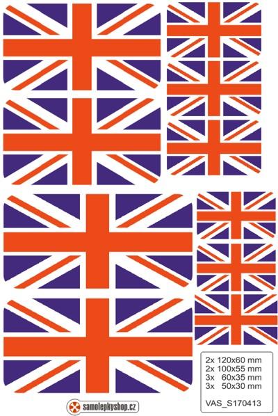 Vlajky Anglie, samolepky set. Vlajka Anglie na mobil